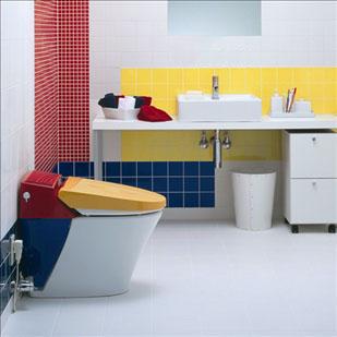 Thiết kế nội thất 2 phòng vệ sinh có diện tích khác nhau