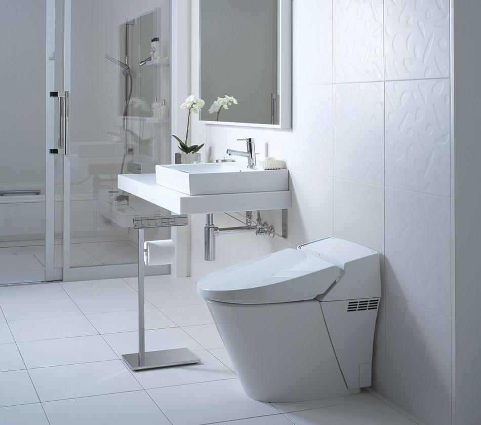 Cách bố trí thiết bị vệ sinh inax cho phòng tắm nhỏ hẹp đẹp lung linh