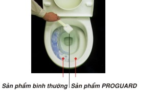 Trải nghiệm Proguard - Công nghệ giúp sứ vệ sinh Inax luôn sạch sáng.
