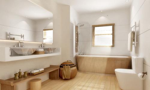 Thiết kế phòng tắm inax với gam màu tươi sáng