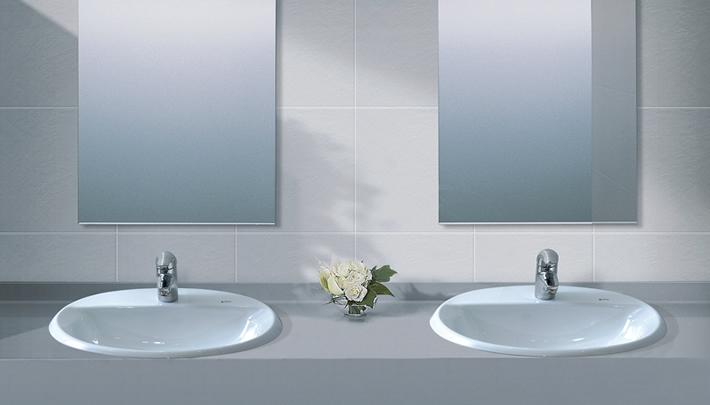 Cách kết hợp chậu rửa inax đối xứng vô cùng thẩm mỹ