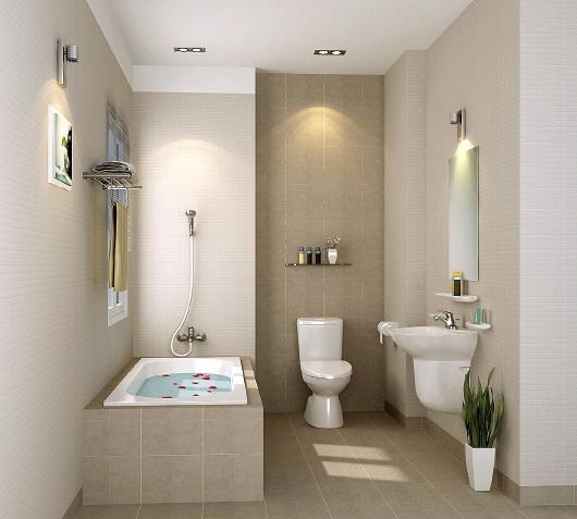 Phòng tắm sang trọng với một số thiết bị vệ sinh thiết yếu