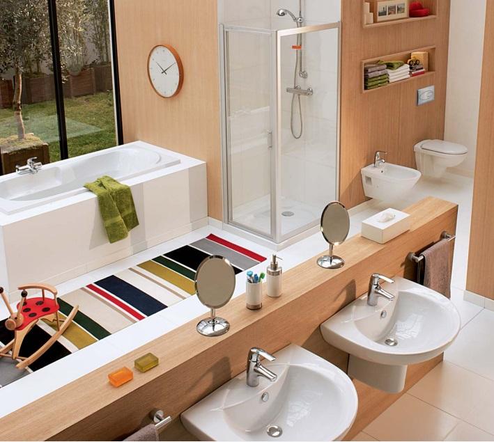 Làm đẹp phòng tắm với thiết bị vệ sinh chính hãng