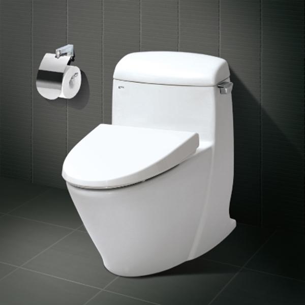 Bàn cầu 1 khối inax- cho phòng tắm lớn thêm tiện nghi