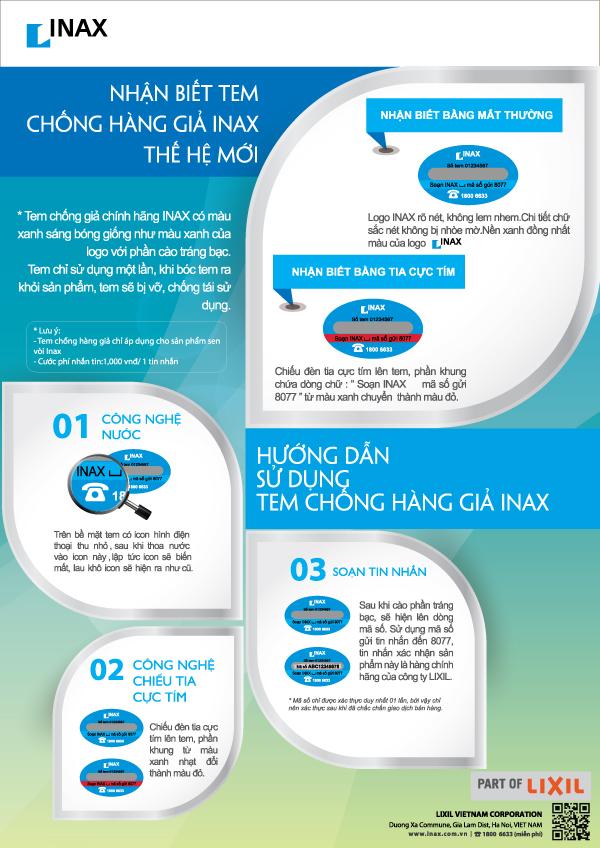 5 cách phân biệt thiết bị vệ sinh Inax thật giả